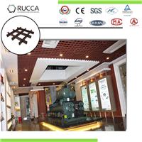 古玩城工程酒店大堂专用生态木格栅吊顶