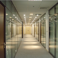 玻璃隔断办公高隔间铝合金隔墙办公装修间隔