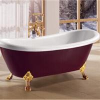 特价酒红贵妃浴缸