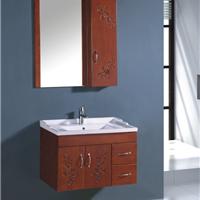 宜居云实木 橡木浴室柜M8027专业生产浴室柜
