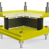 供应圆形固定型高阻尼隔震橡胶支座
