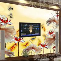 平阳县瓷砖背景墙厂家,直销彩雕艺术背景墙