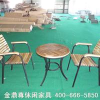 供应户外金属家具实木庭院桌椅西北户外家具