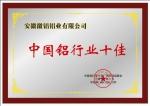 中国铝行业十佳厂商