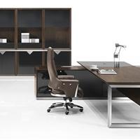 供应办公家具-实木现代款班台/办公桌组合