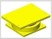 水平剪力100KN双向滑动铰支座成品-衡水广润