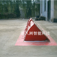 路障机 边检专用翻转式带矛刺路障机 防恐墙