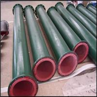 矿用耐磨衬天然橡胶管道-矿浆输送衬胶管