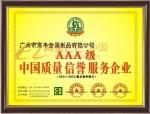 中国质量信誉服务企业