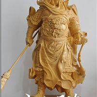 木雕关公佛像供奉家居收藏摆件镇宅特价包邮
