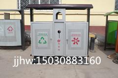 供应钢板铁质垃圾箱果皮箱可定制