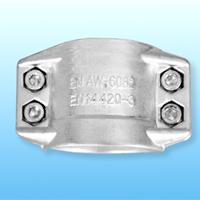 DIN2817标准锻造铝合金安全管夹厂家直供抱箍管箍拉瓦
