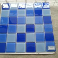 供应海南省 水晶马赛克 游泳池工程墙面砖
