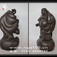 黑檀木雕佛像摆件如意弥勒佛如意笑佛
