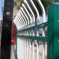 供应锌钢围栏单线弯头厂区防盗围栏