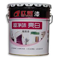 内墙乳胶漆施工红冠超净味亮白乳胶漆生产