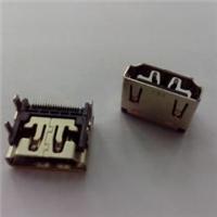HDMI A Type 19Pin 母座铁壳 镀镍/连接器