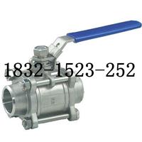 供应Q61F-16P不锈钢三片式焊接球阀