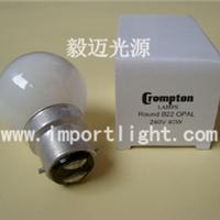 供应Crompton B22 240V 40W卡口奶白球泡