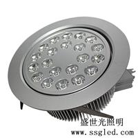 供应18瓦LED天花灯  开孔尺寸140mm 直径160