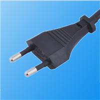 供应VDE欧式插头欧式二芯线插头电源线插头