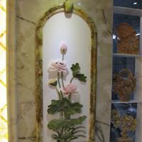 欧式装饰仿玉石进门背景墙
