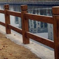 供应巴中仿木仿石栏杆 铸造石河道公路栏杆