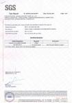 SGS认证检测报告