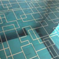 供应佛山不锈钢镜面宝石蓝U形线条卫浴板