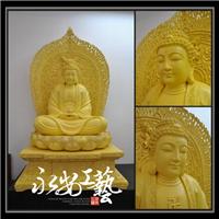 释迦摩尼佛桧木雕佛像摆件宗教神像宗教工艺