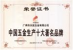 中国五金生产十大著名品牌