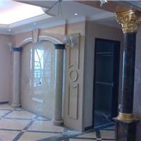 供应欧式石材罗马柱背景墙