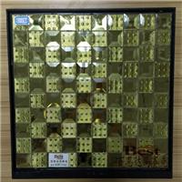 直销优质金色磨边五面钻 千禧格 镜面墙面砖
