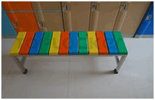 供应塑料更衣柜,更衣凳,配套锁具
