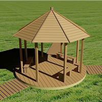 供应合肥木塑、生态木廊架、凉亭