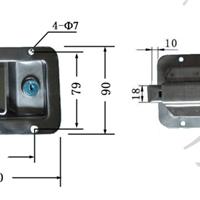 供应盈佳03101盒锁,侧门盒锁,电柜锁