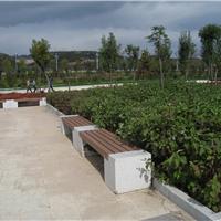 供应木塑塑木园林凳休闲椅 园林景观设施