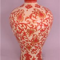 供应镶金裂纹釉系列 陶瓷花瓶 装饰工艺花瓶