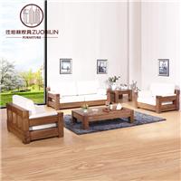 供应北美黑胡桃实木沙发 客厅组合沙发