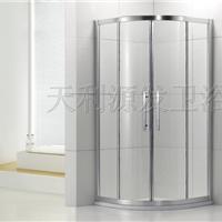 供应LR-004铝合金扇形对开趟门淋浴屏风