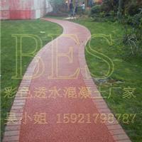 供应杭州新昌彩色透水地坪-透水混凝土施工