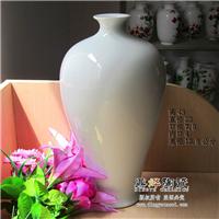 景德镇素烧陶瓷花瓶裸瓷胎瓷器白色花瓶美院教学作画