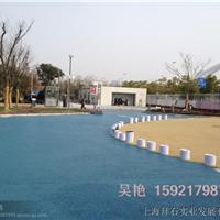 广州市政彩色胶粘石透水地坪/生态渗水路面