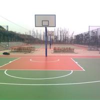 泸州篮球场工程安装 篮球场硅PU地坪价格