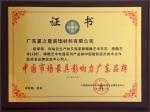 中国市场最具影响力广东品牌