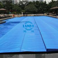 供应蓝色气泡泳池盖 保温防尘