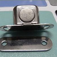 供应晶钢门门吸不锈钢磁碰晶钢门配件