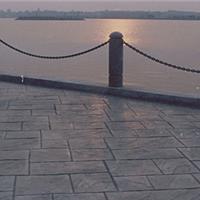 盐城景区彩色压印水泥|混凝土压模地坪拜石
