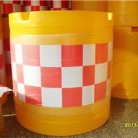 供应塑料防撞桶、滚塑工艺水马、防撞桶水马