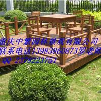 供应重庆防腐木栏杆